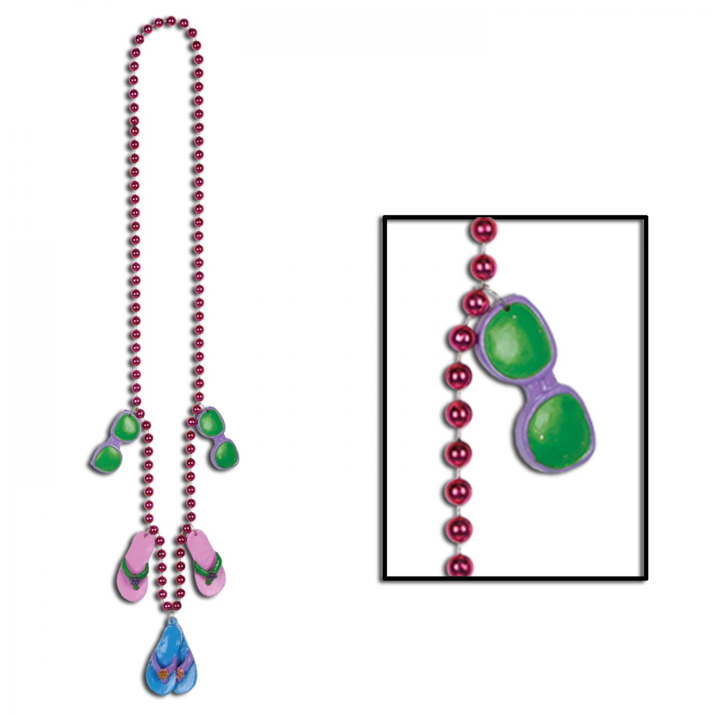 Image of Beads w/Flip Flop Medallions