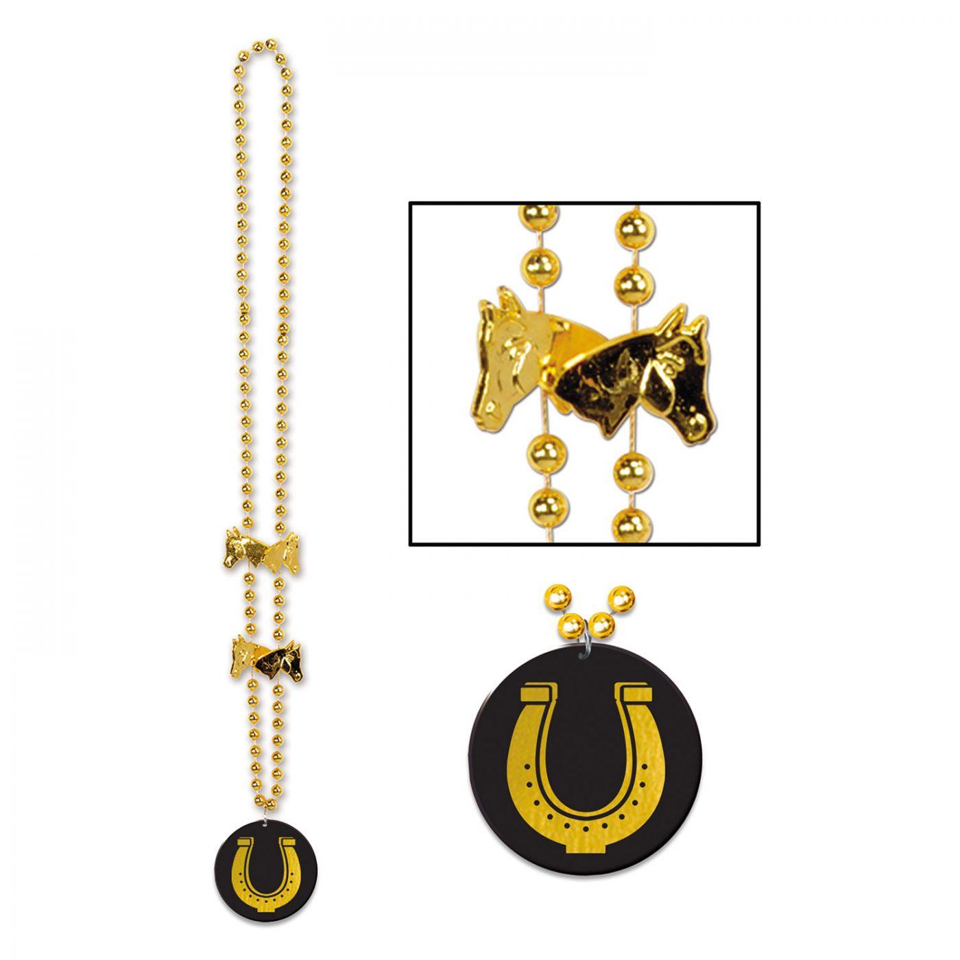 Image of Beads w/Horseshoe Medallion
