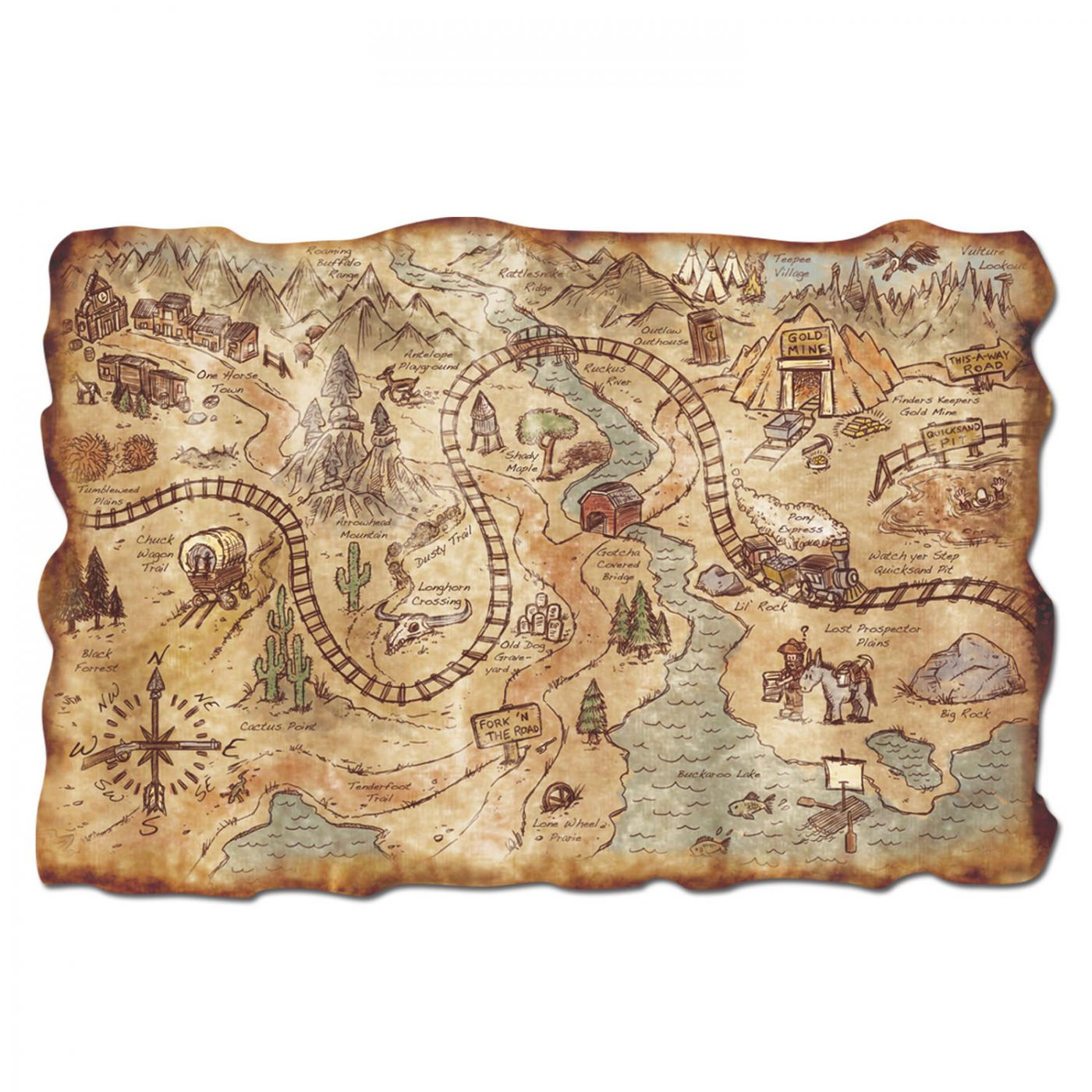 Plastic Gold Mine Treasure Map image