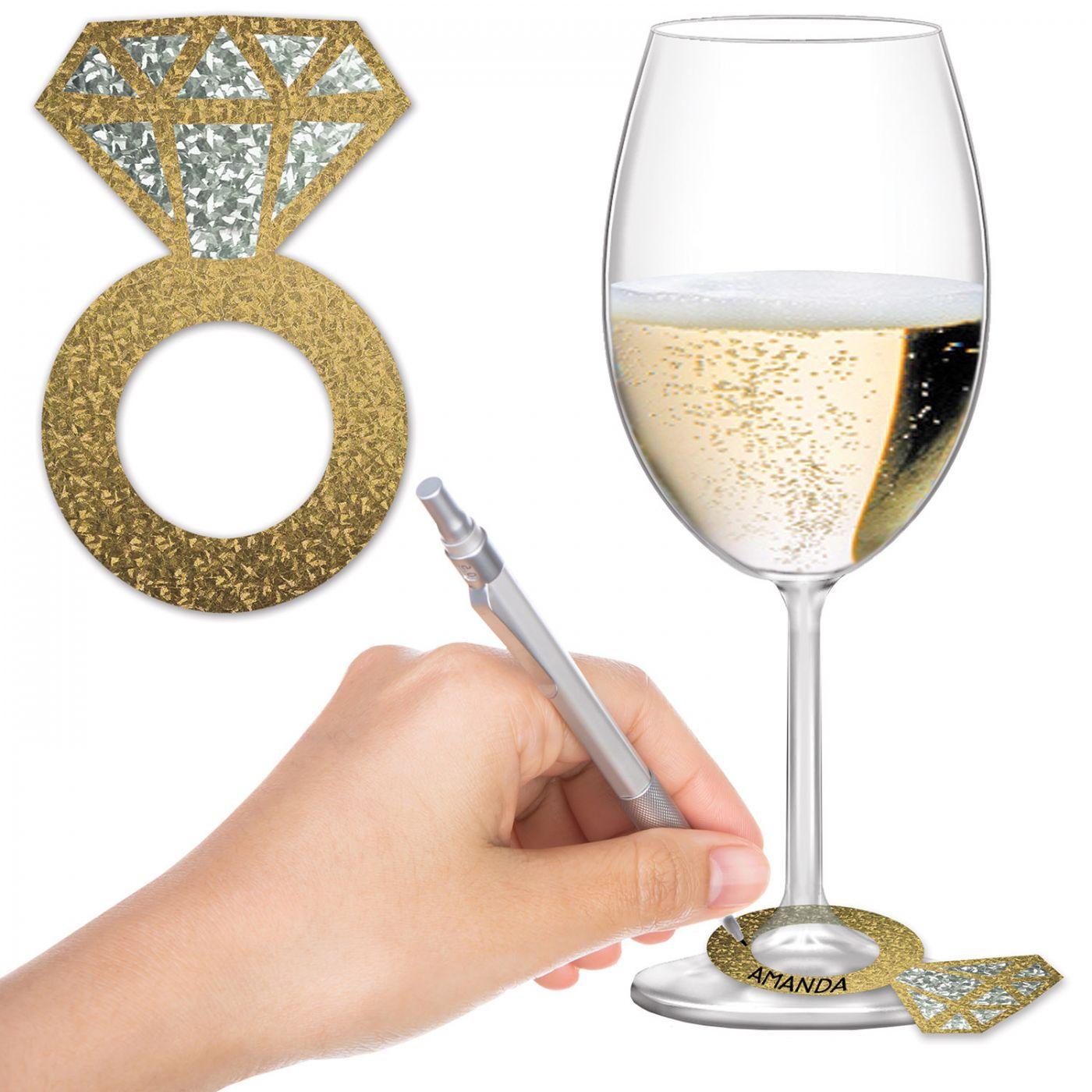 Diamond Ring Wine Glass Markers image