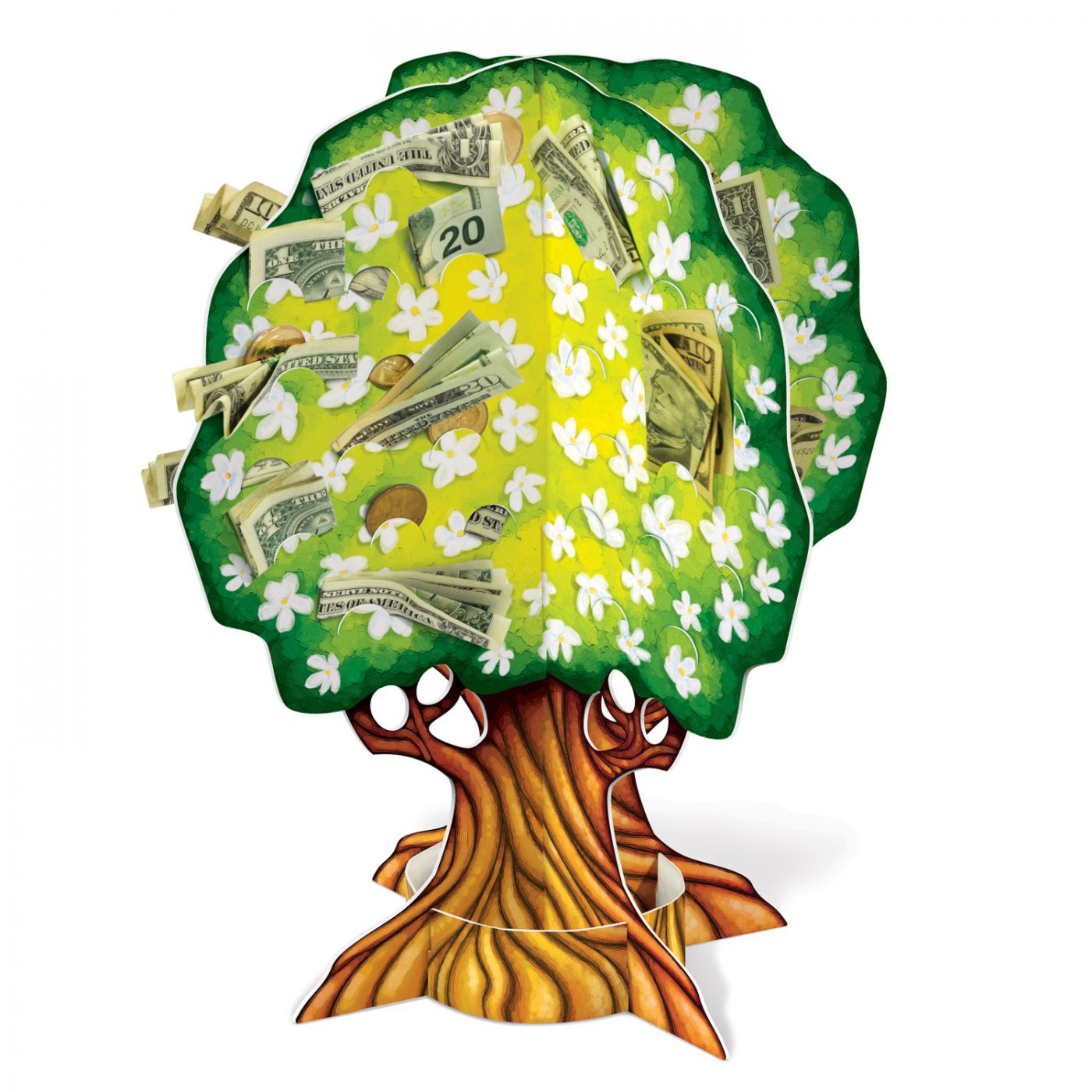 Image of 3-D Wedding/Anniversary Money Tree