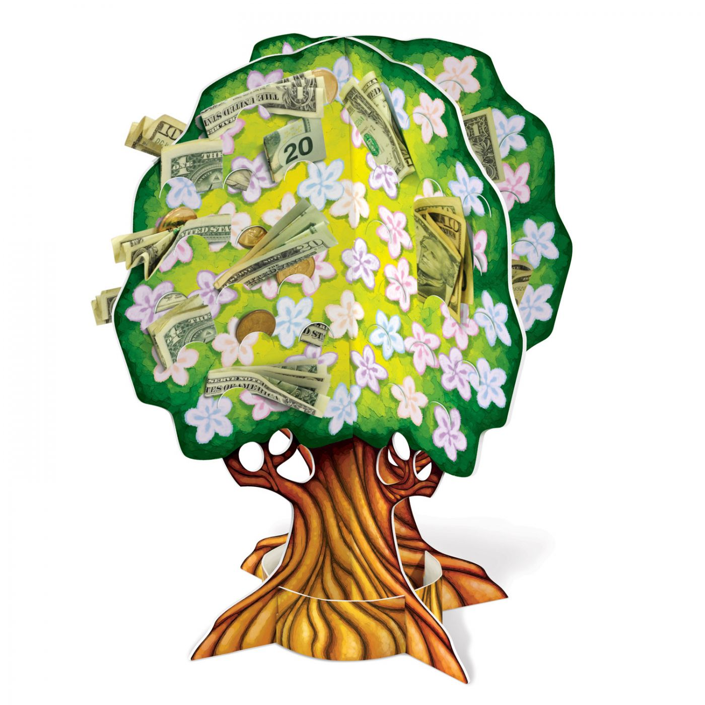 Image of 3-D Baby Shower Money Tree