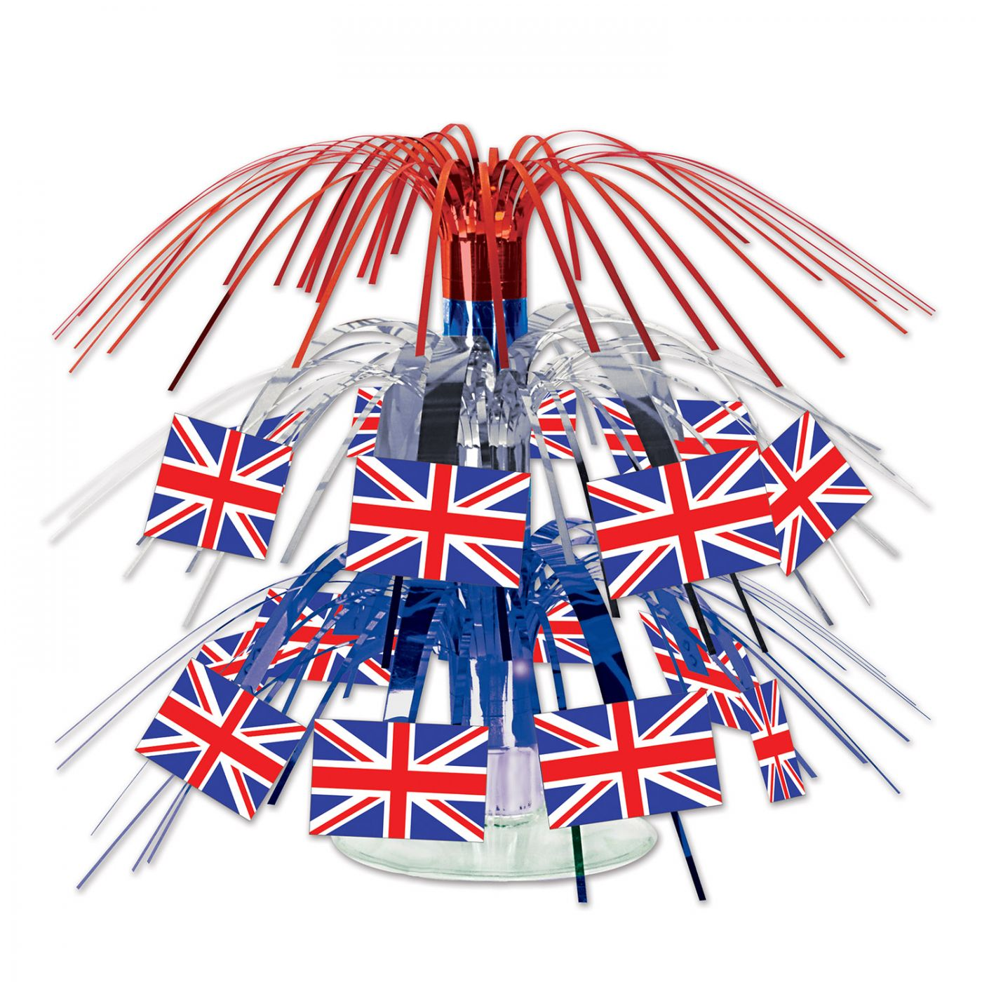 British Flag Mini Cascade Centerpiece image
