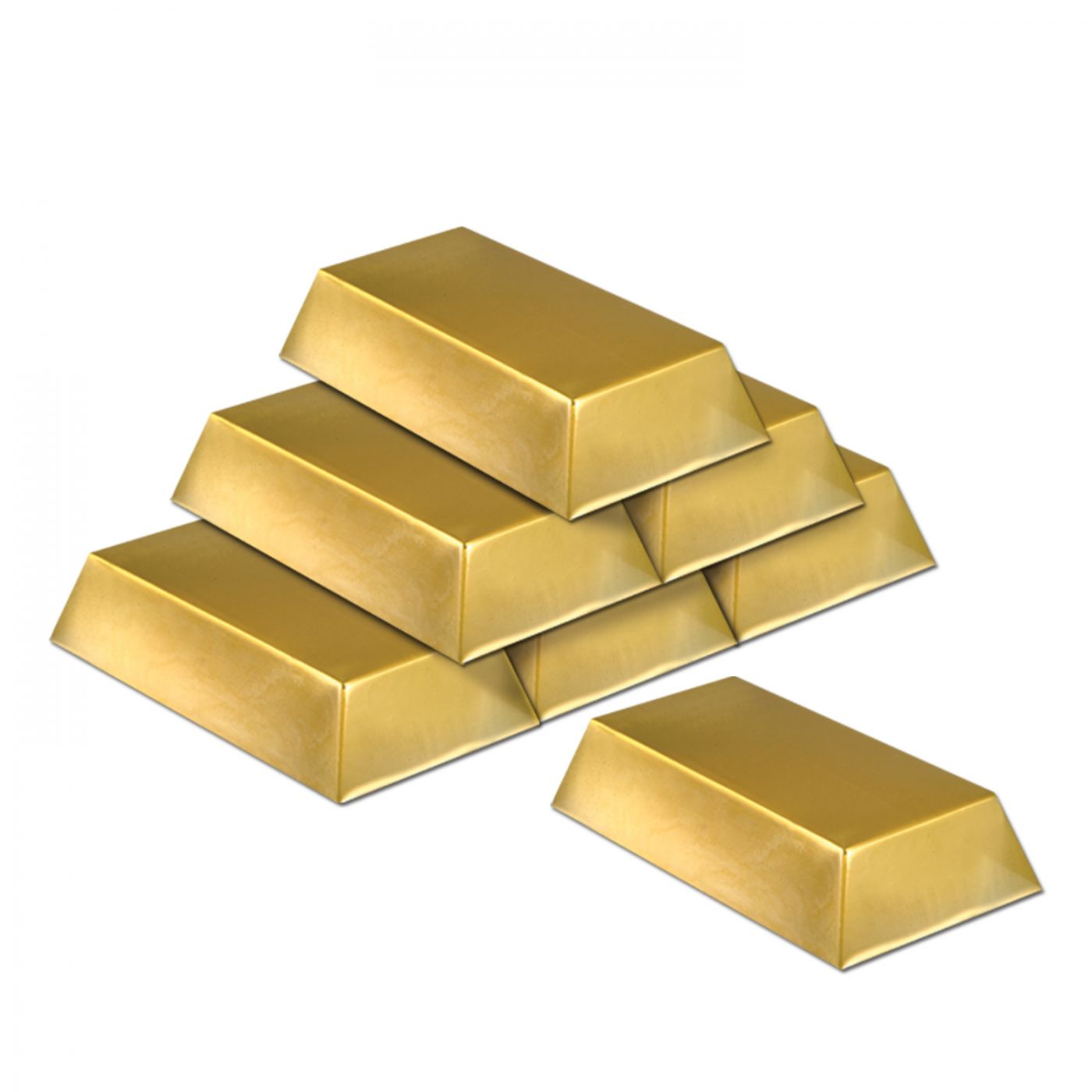 Plastic Gold Bar Decorations image