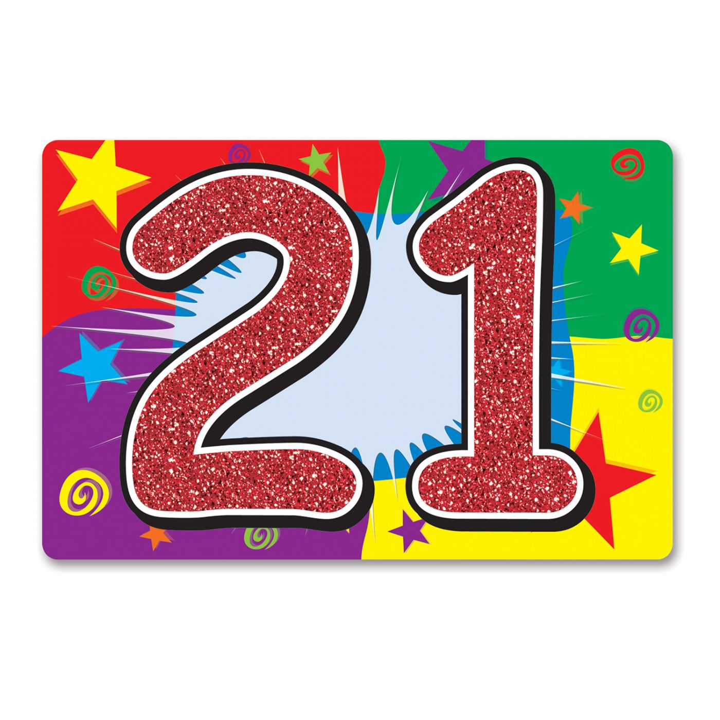 Image of Glittered  21  Sign