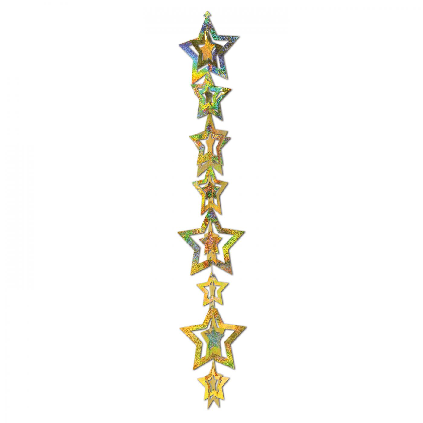 3-D Prismatic Star Gleam 'N Garland image