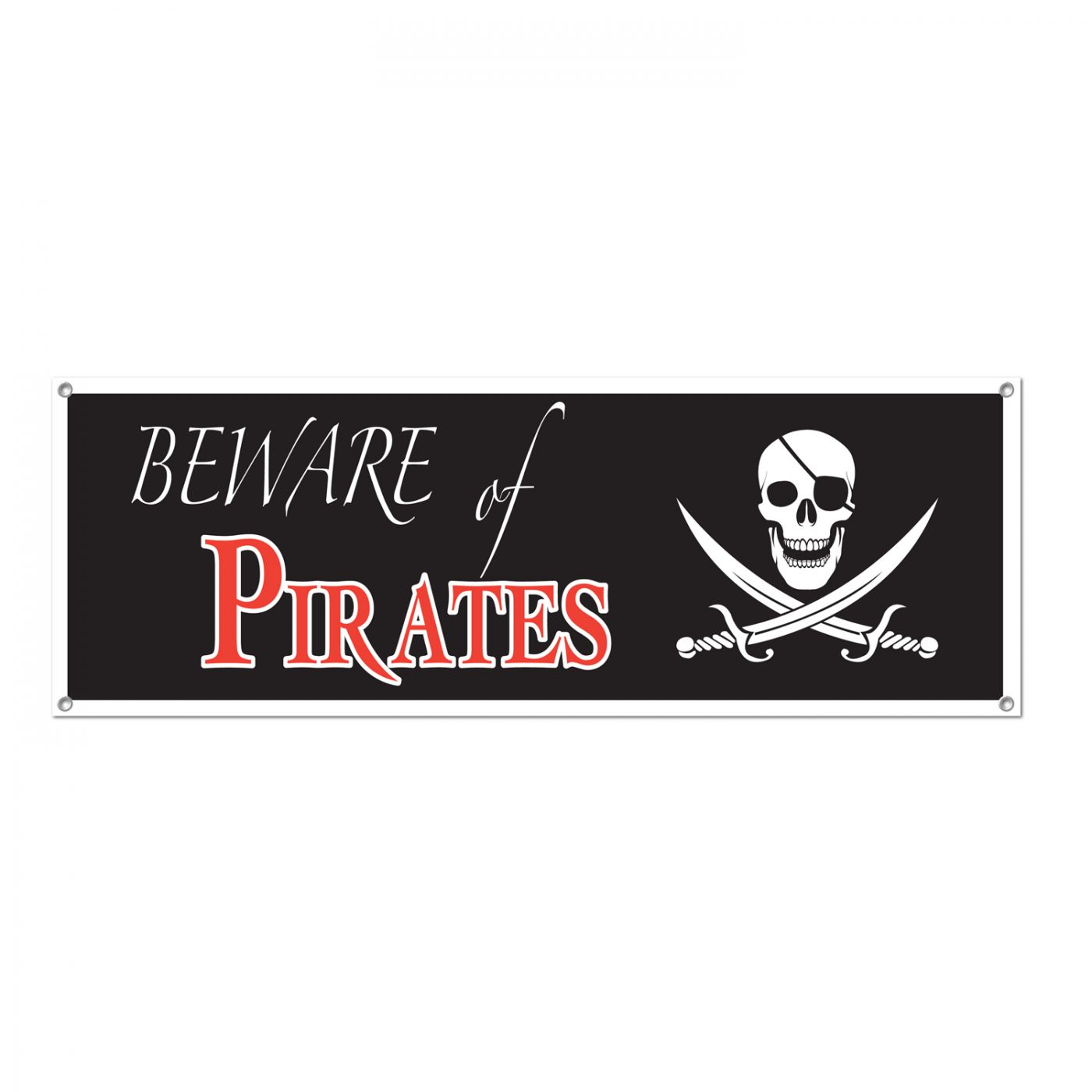 Beware Of Pirates Sign Banner image