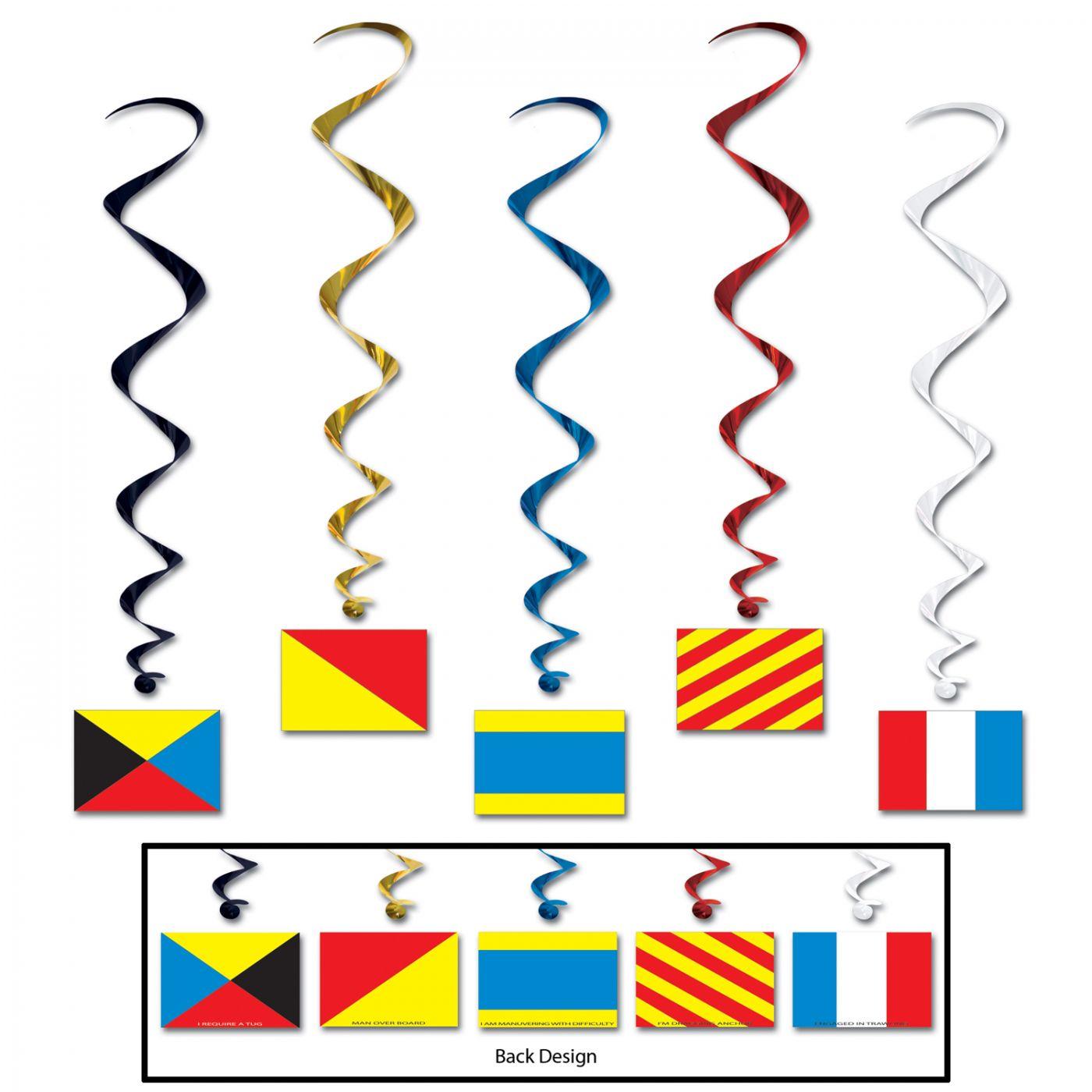 Nautical Flag Whirls (6) image