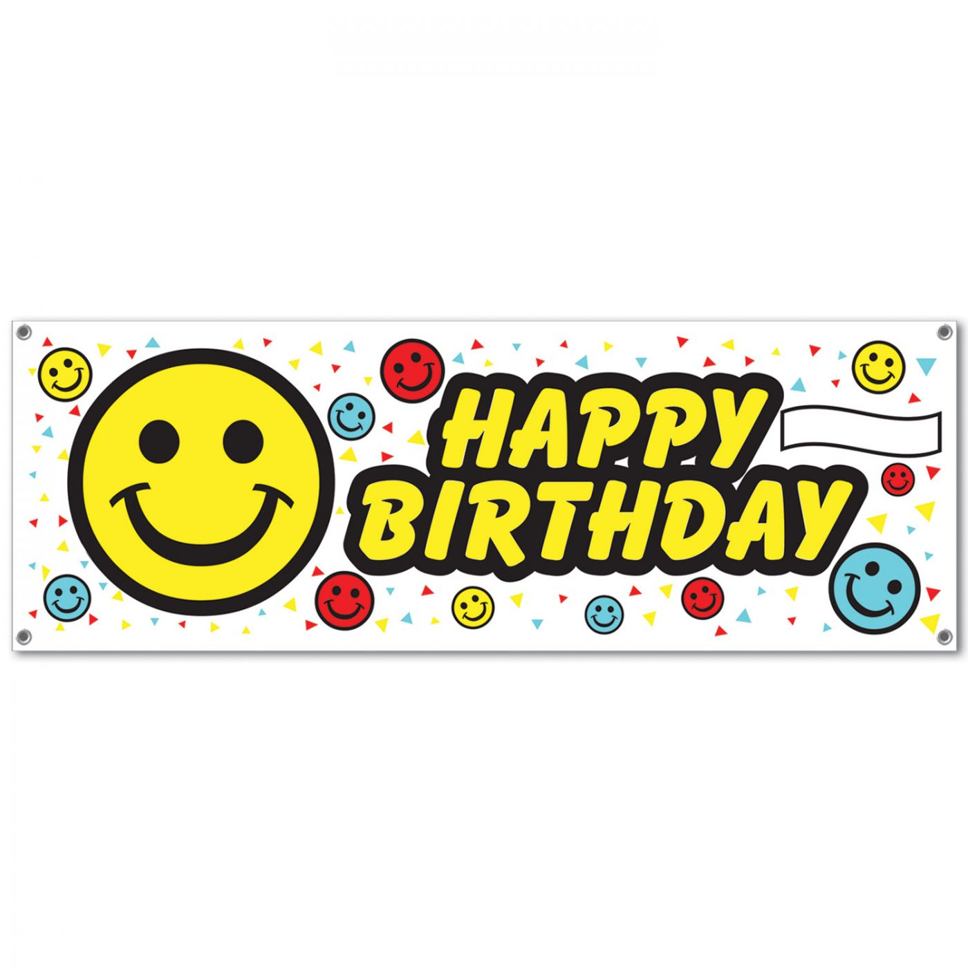 Image of Birthday Smile Face Sign Banner