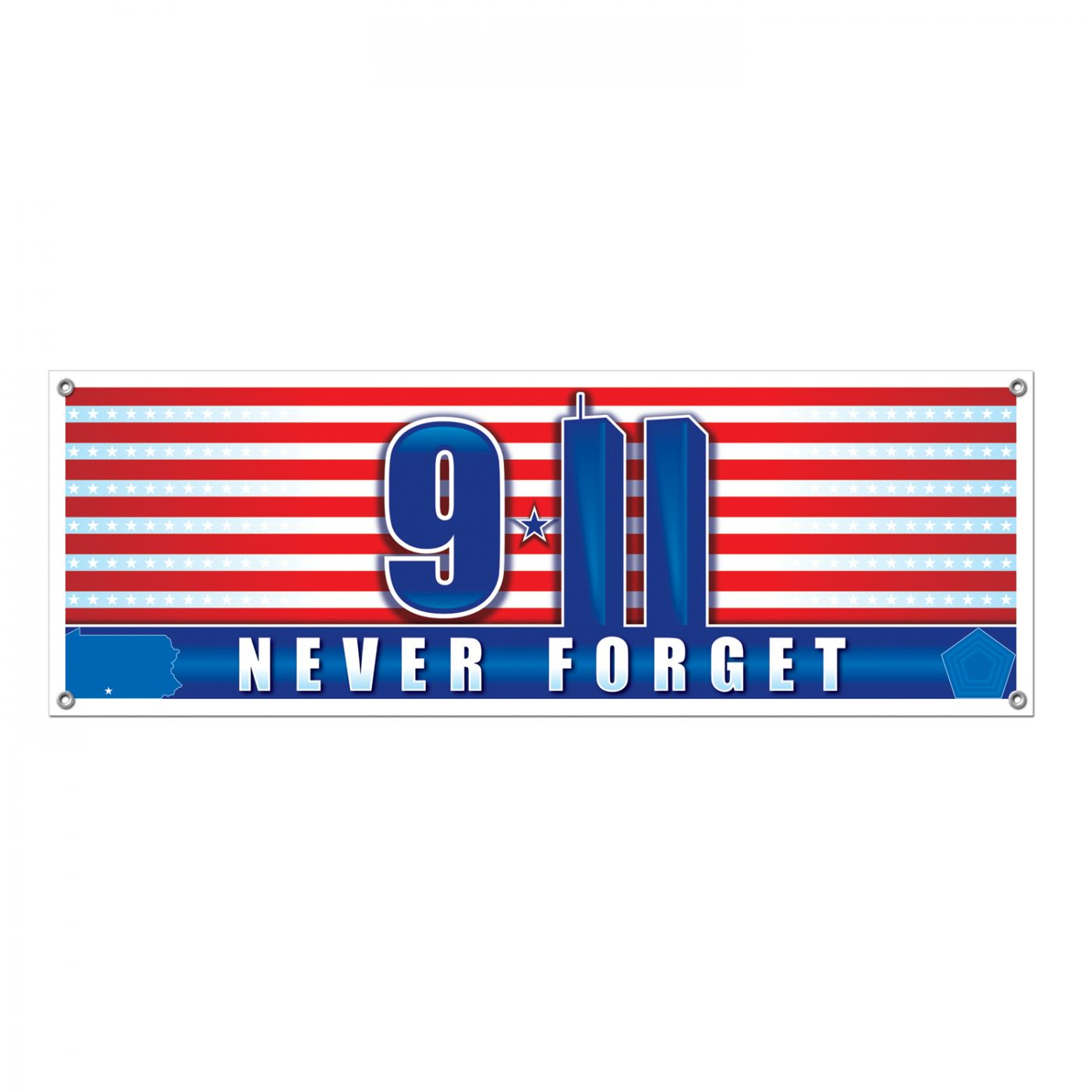 Image of 9/11 Never Forget Sign Banner