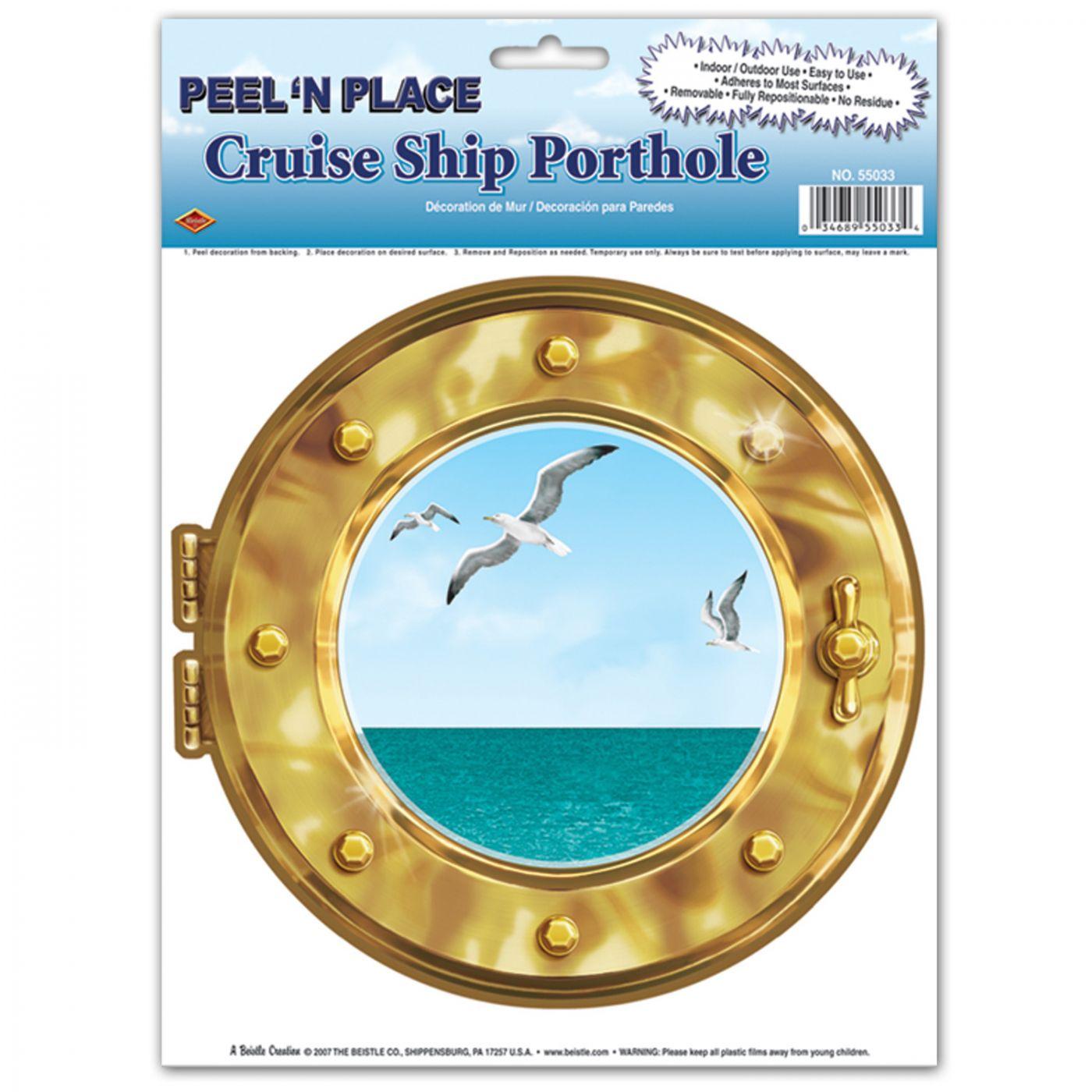 Cruise Ship Porthole Peel 'N Place image