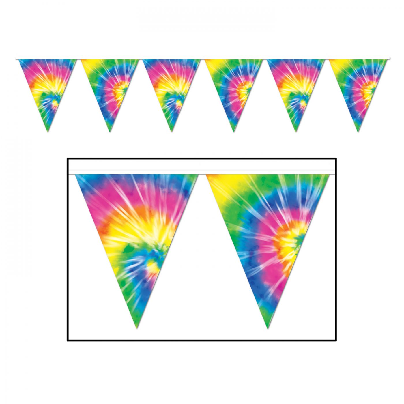 Tie-Dyed Pennant Banner image