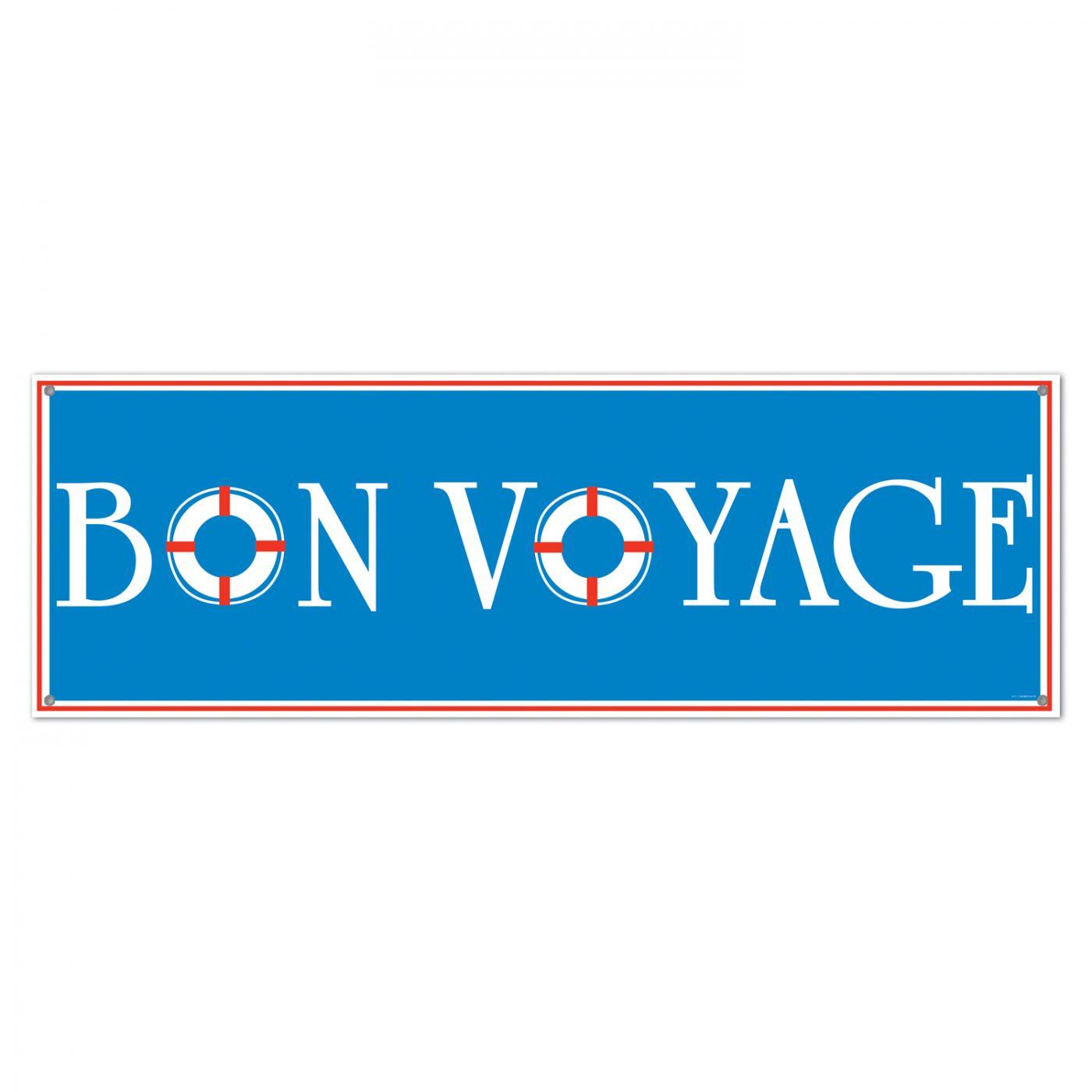 Image of Bon Voyage Sign Banner