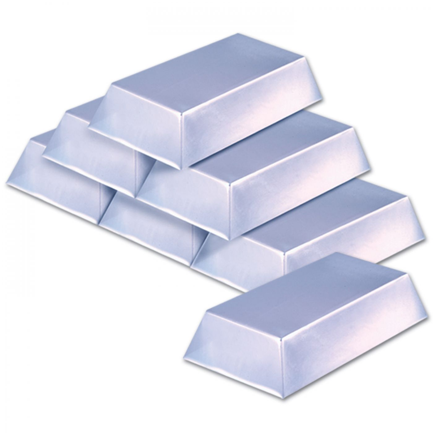 Plastic Silver Bar Decorations image