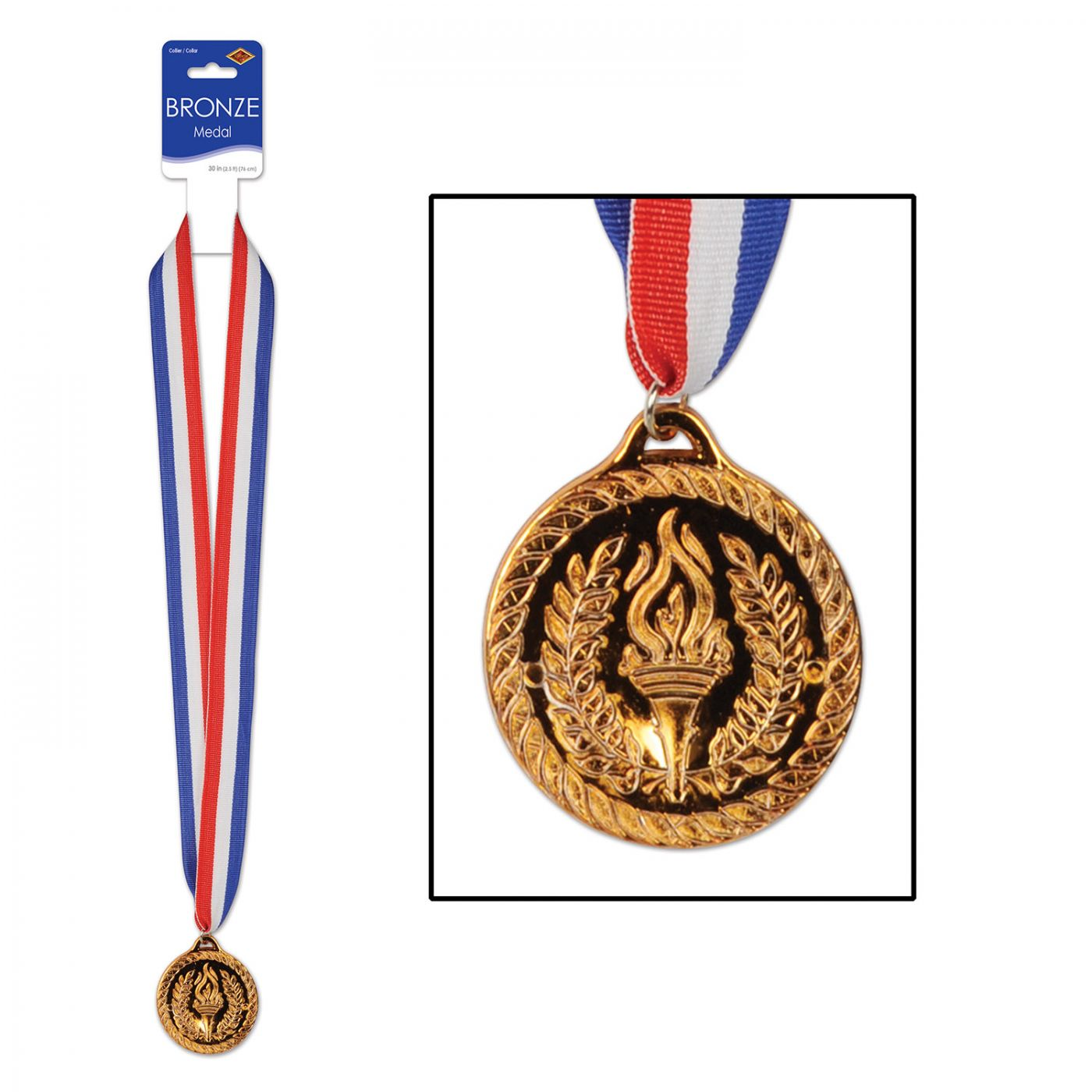 Image of Bronze Medal w/Ribbon