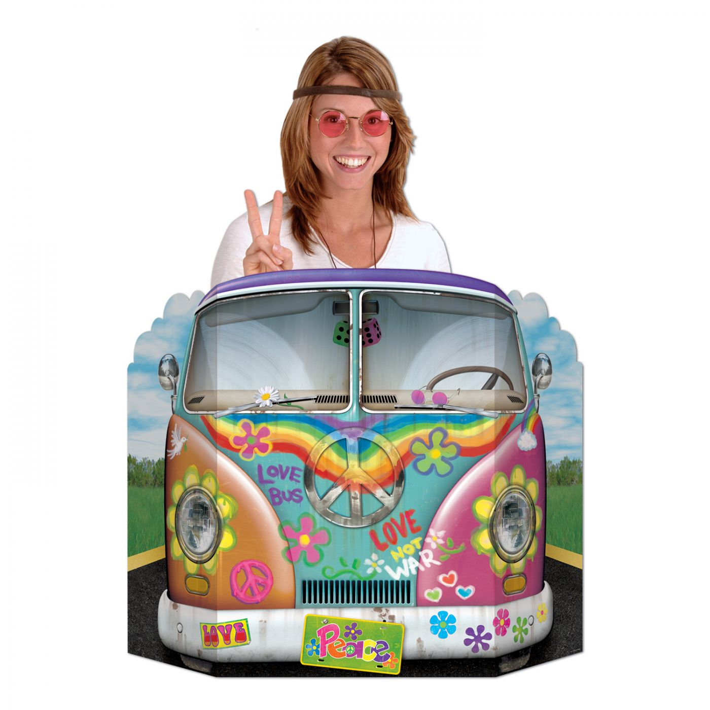 Hippie Bus Photo Prop (6) image