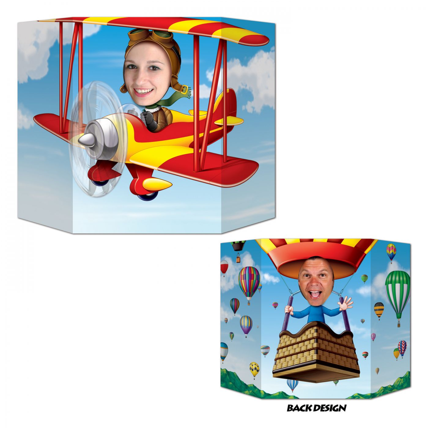 Image of Biplane/Hot Air Balloon Photo Prop (6)