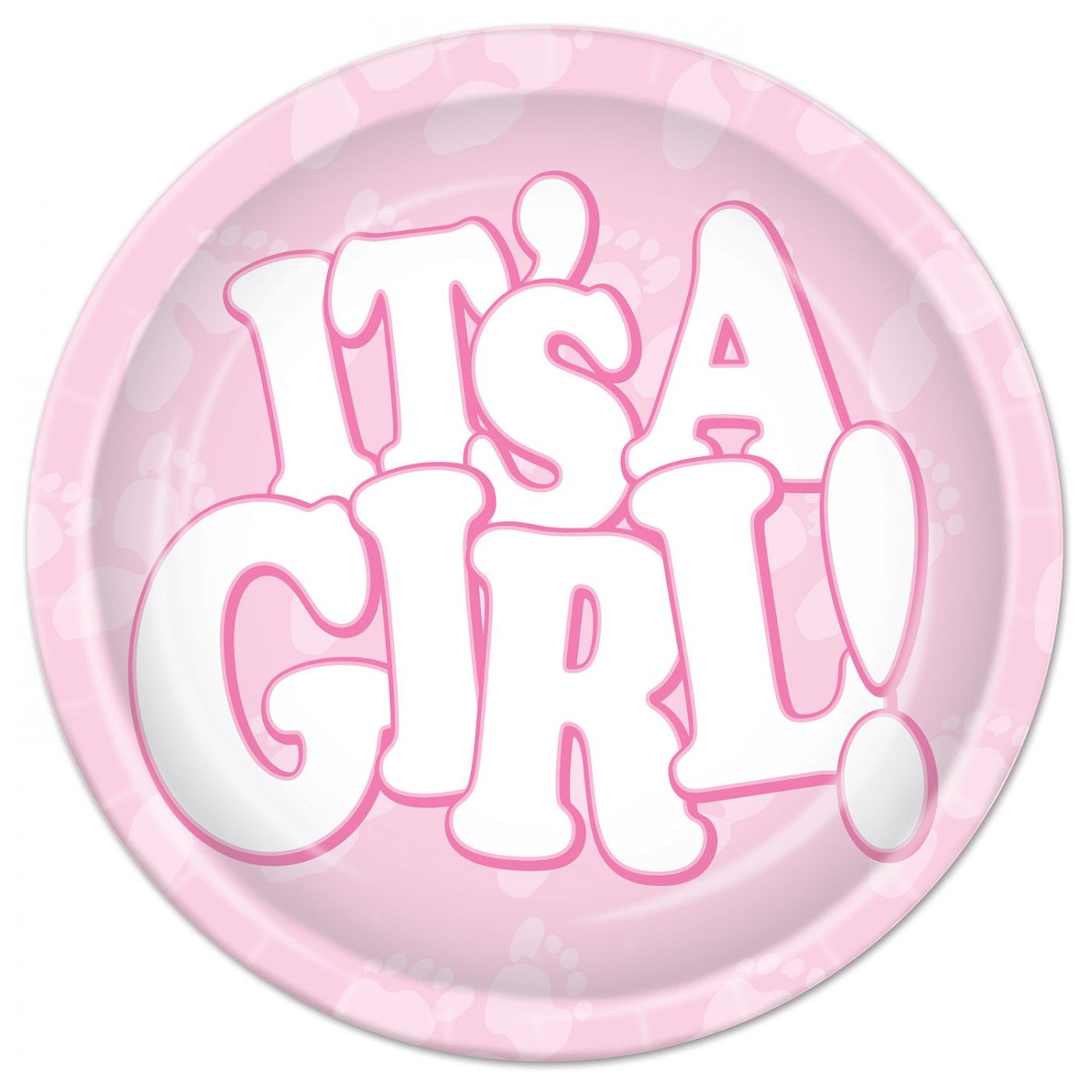It's A Girl! Plates image