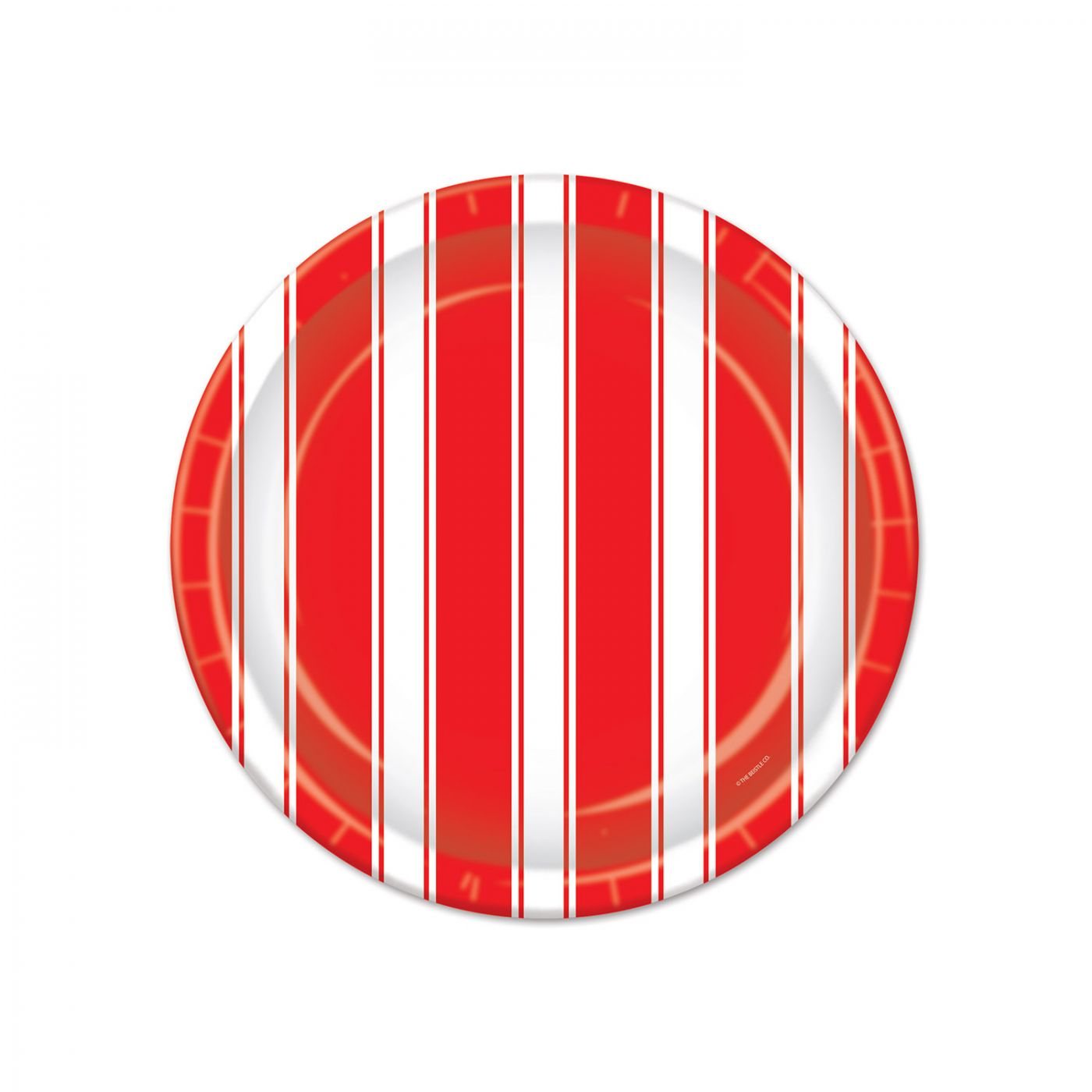 Red & White Stripes Plates image