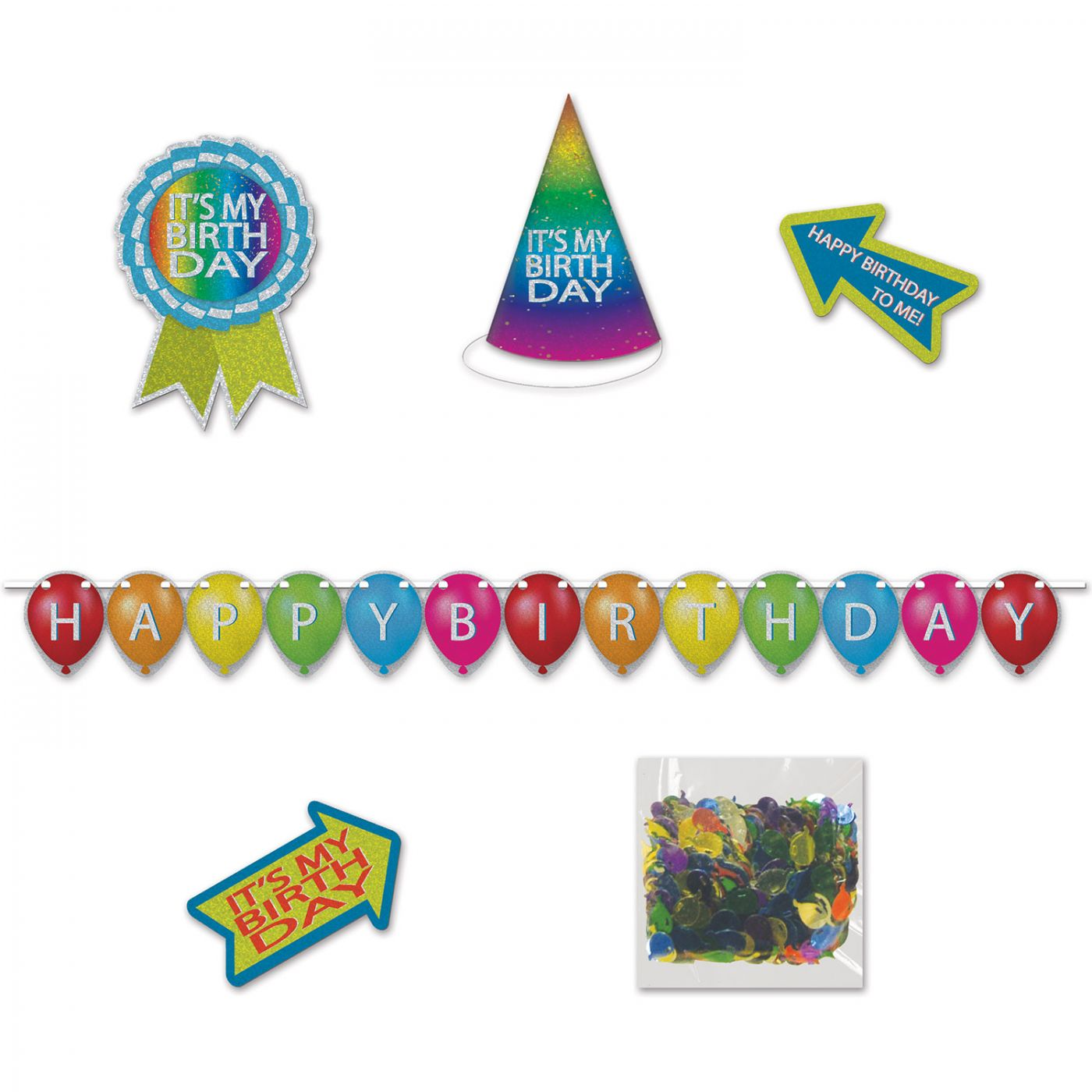Image of Birthday Desktop Party Pack Kit (6)