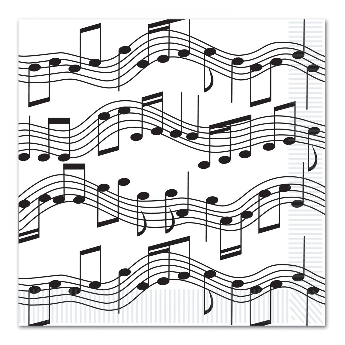 Musical Notes Luncheon Napkins image