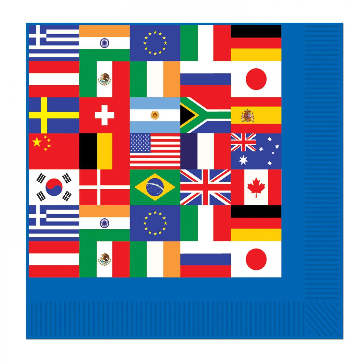 International Flag Luncheon Napkins image