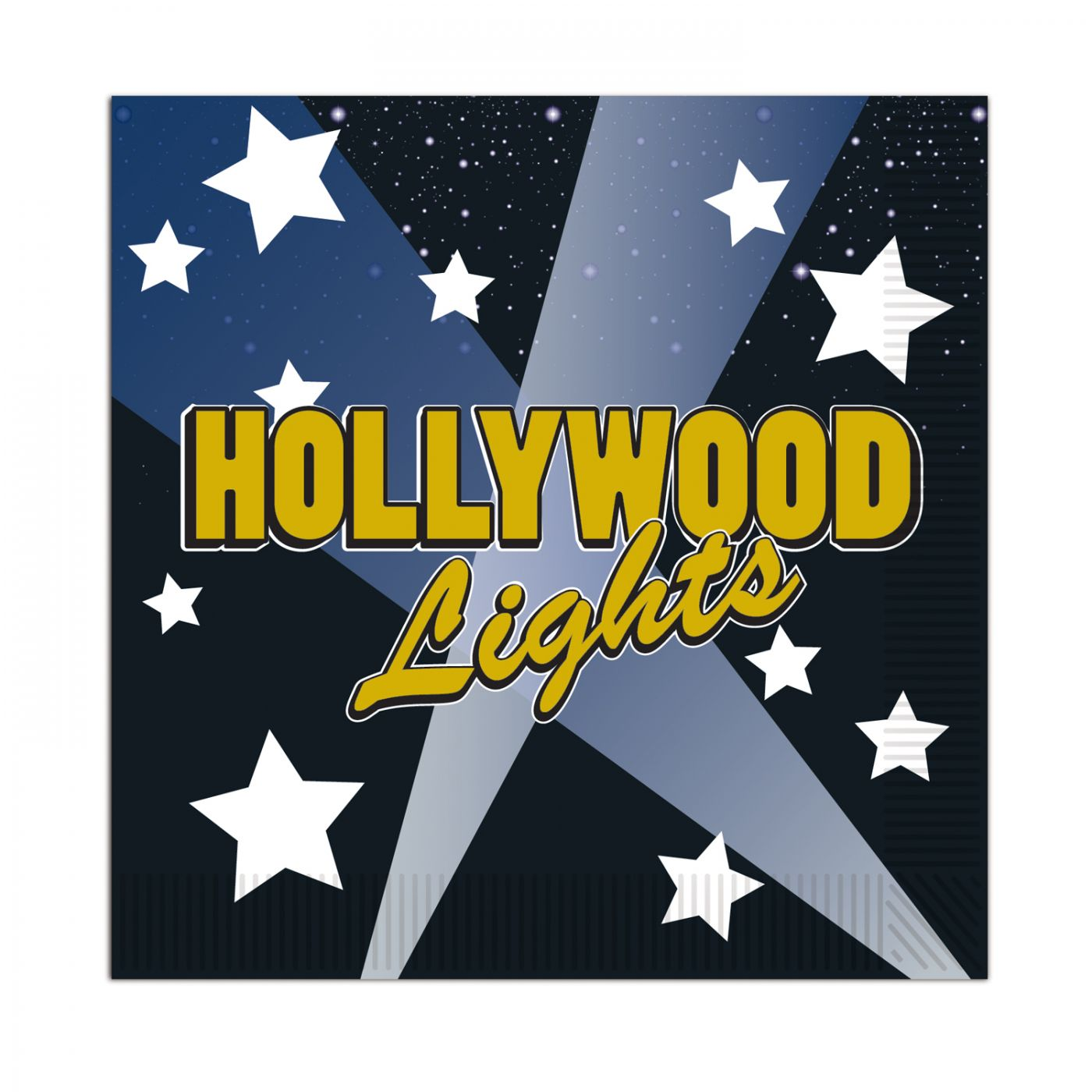Hollywood Lights Beverage Napkins image