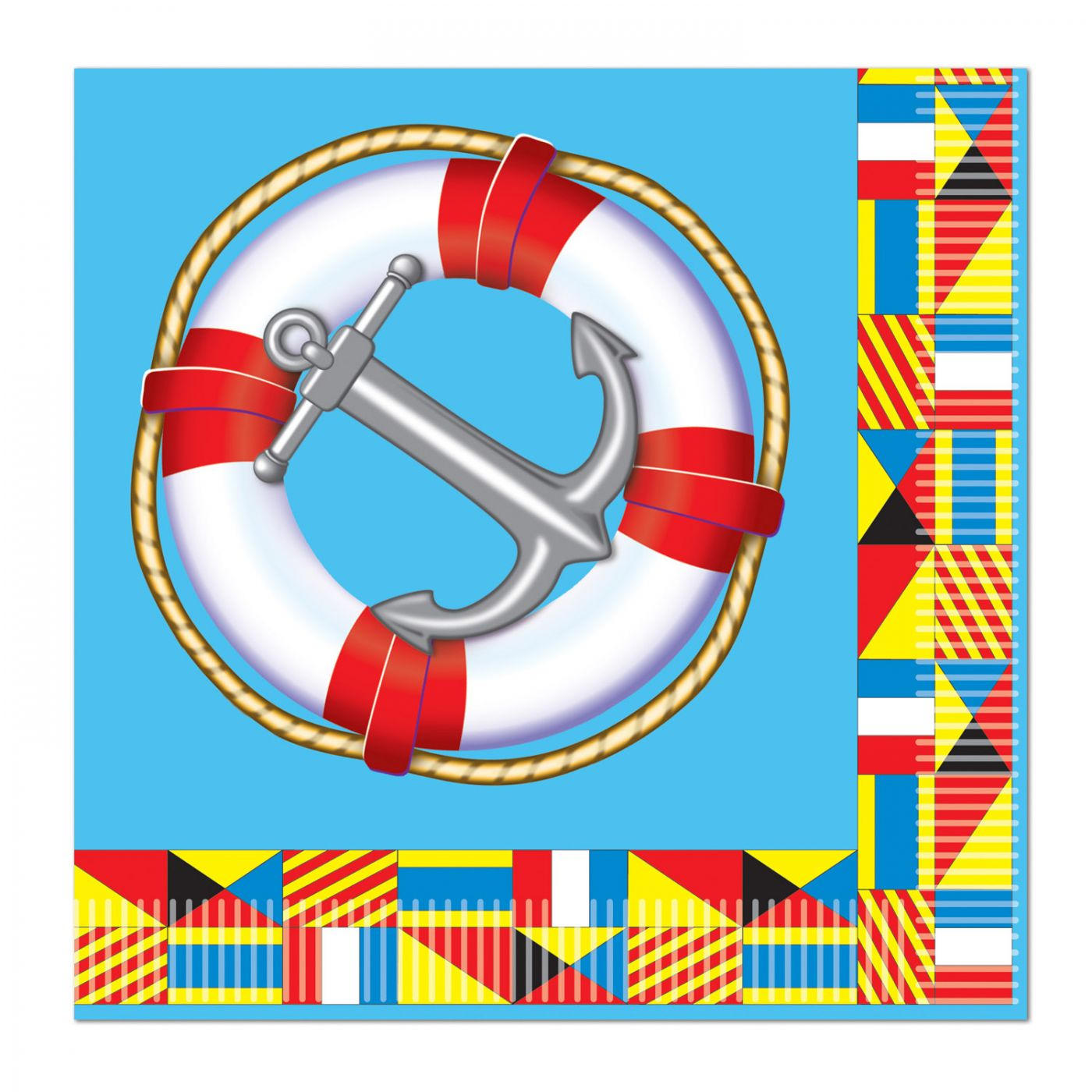 Nautical Beverage Napkins image