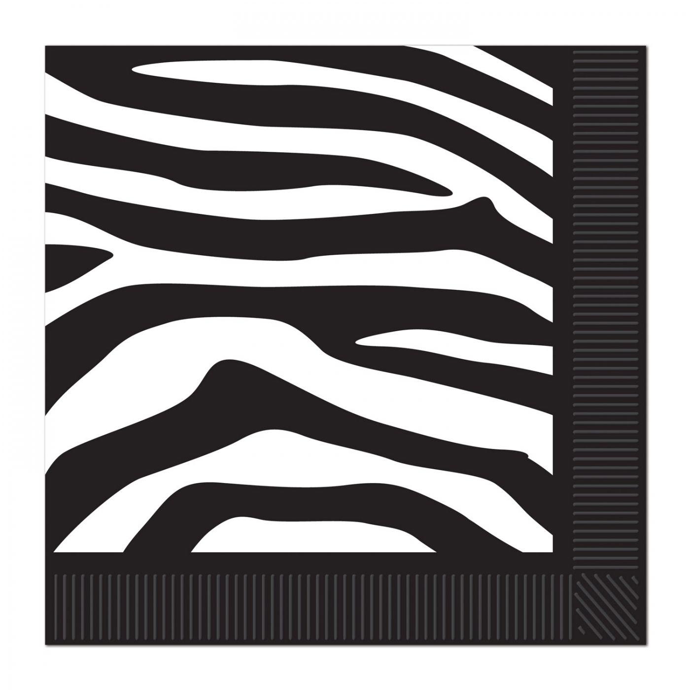Zebra Print Beverage Napkins image