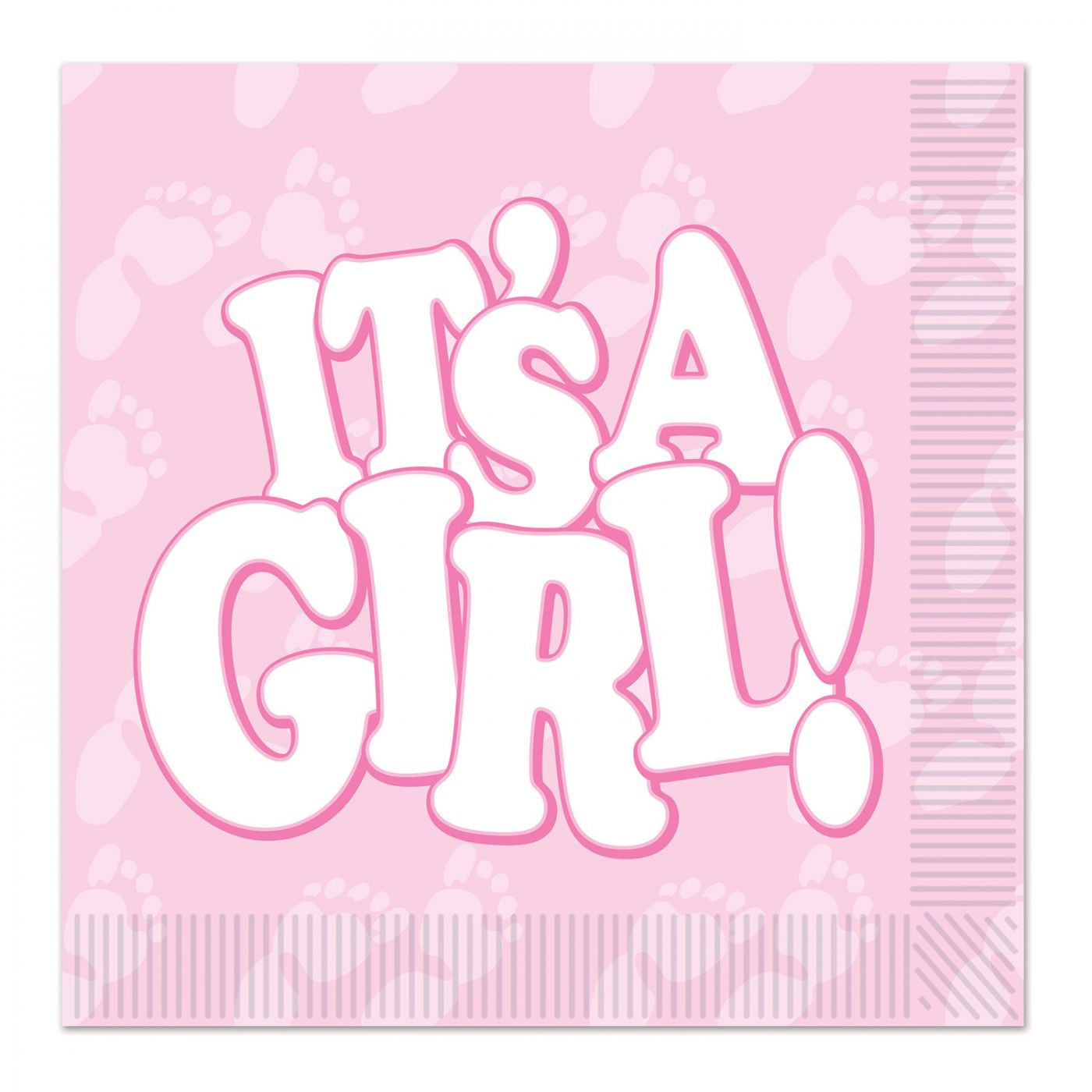 It's A Girl! Beverage Napkins image