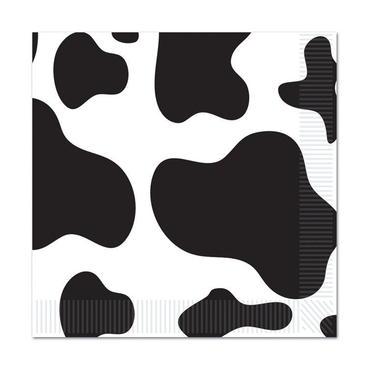 Cow Print Beverage Napkins image