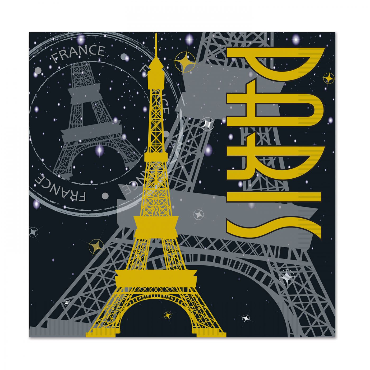 Paris Beverage Napkins image