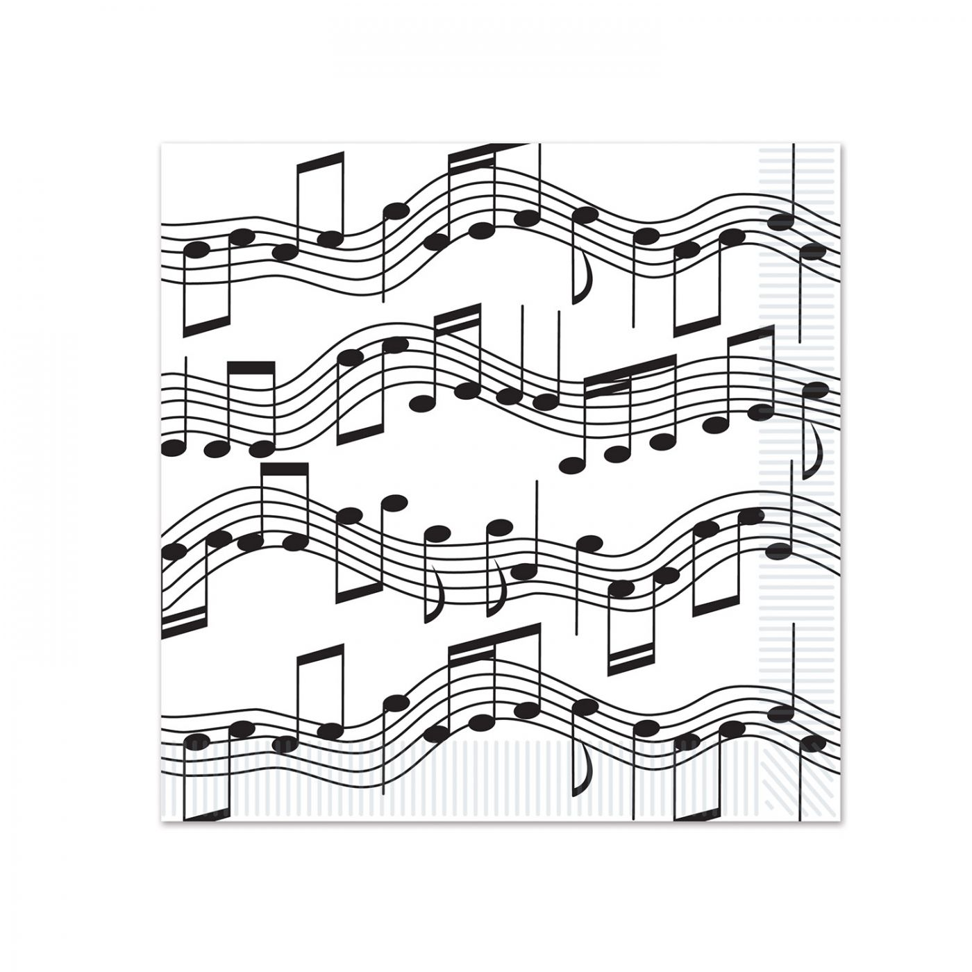 Musical Notes Beverage Napkins image