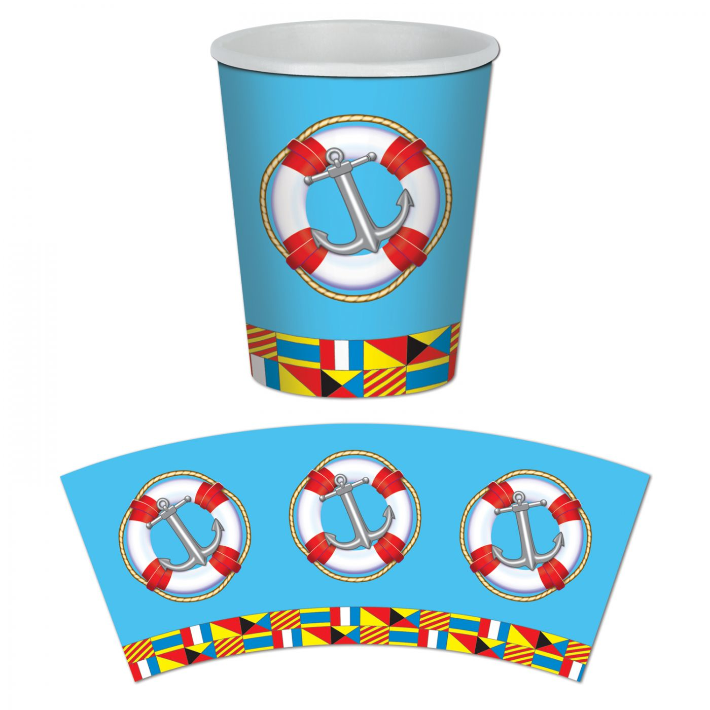 Nautical Beverage Cups image