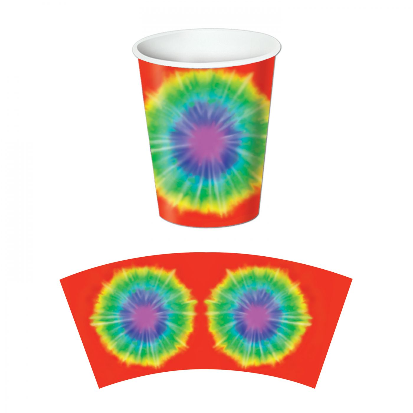 Tie-Dyed Beverage Cups image
