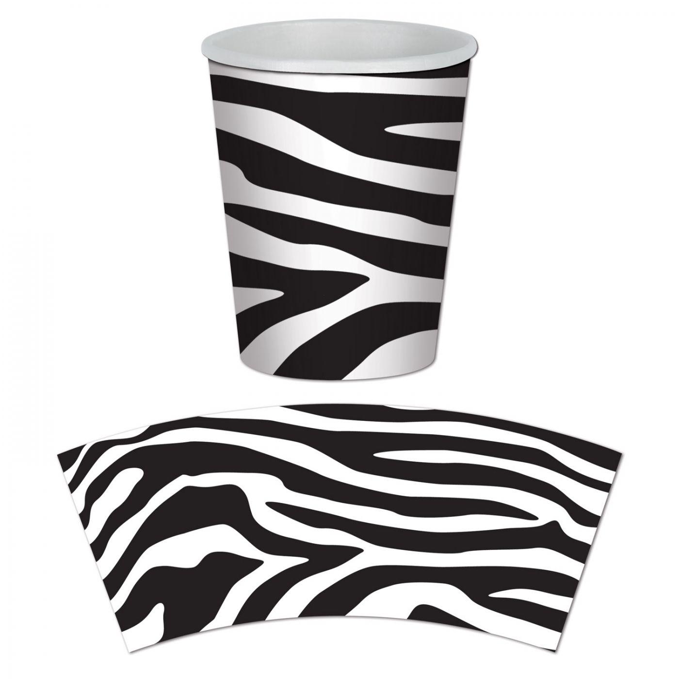 Zebra Print Beverage Cups image