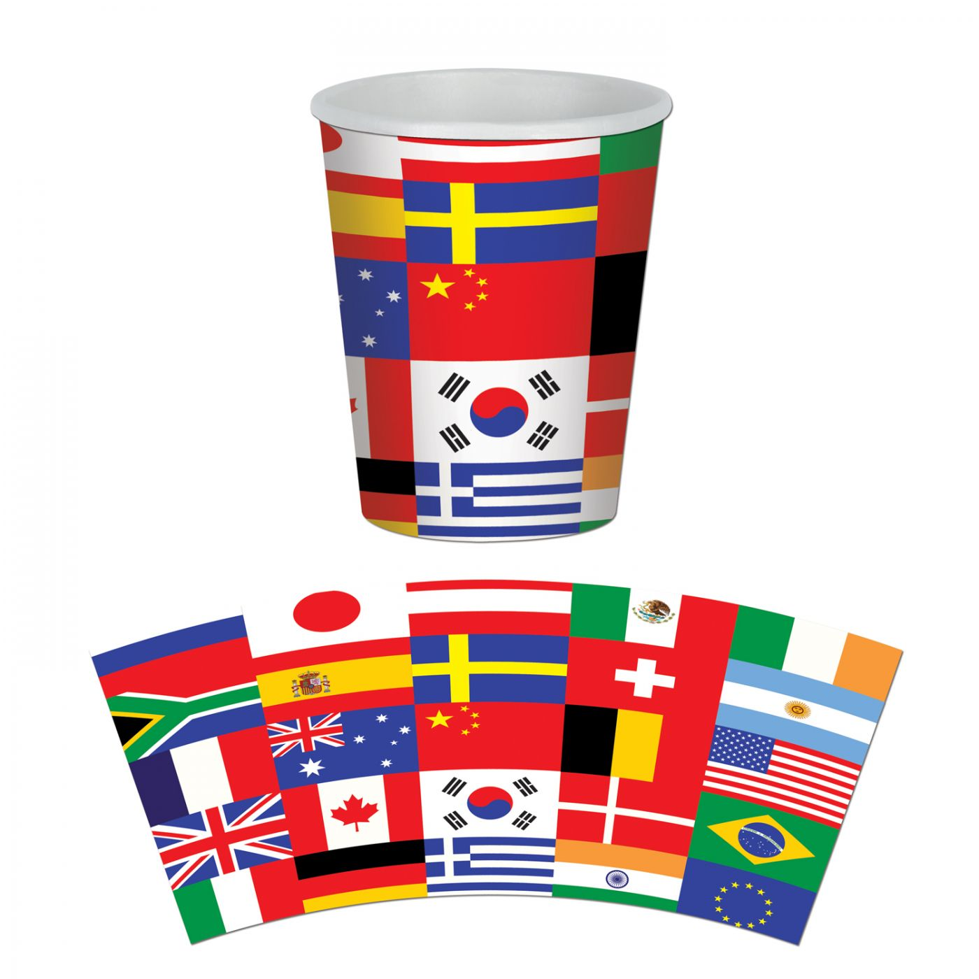 International Flag Beverage Cups image