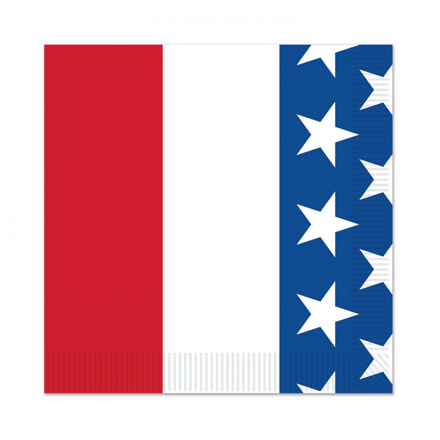 Patriotic Beverage Napkins image