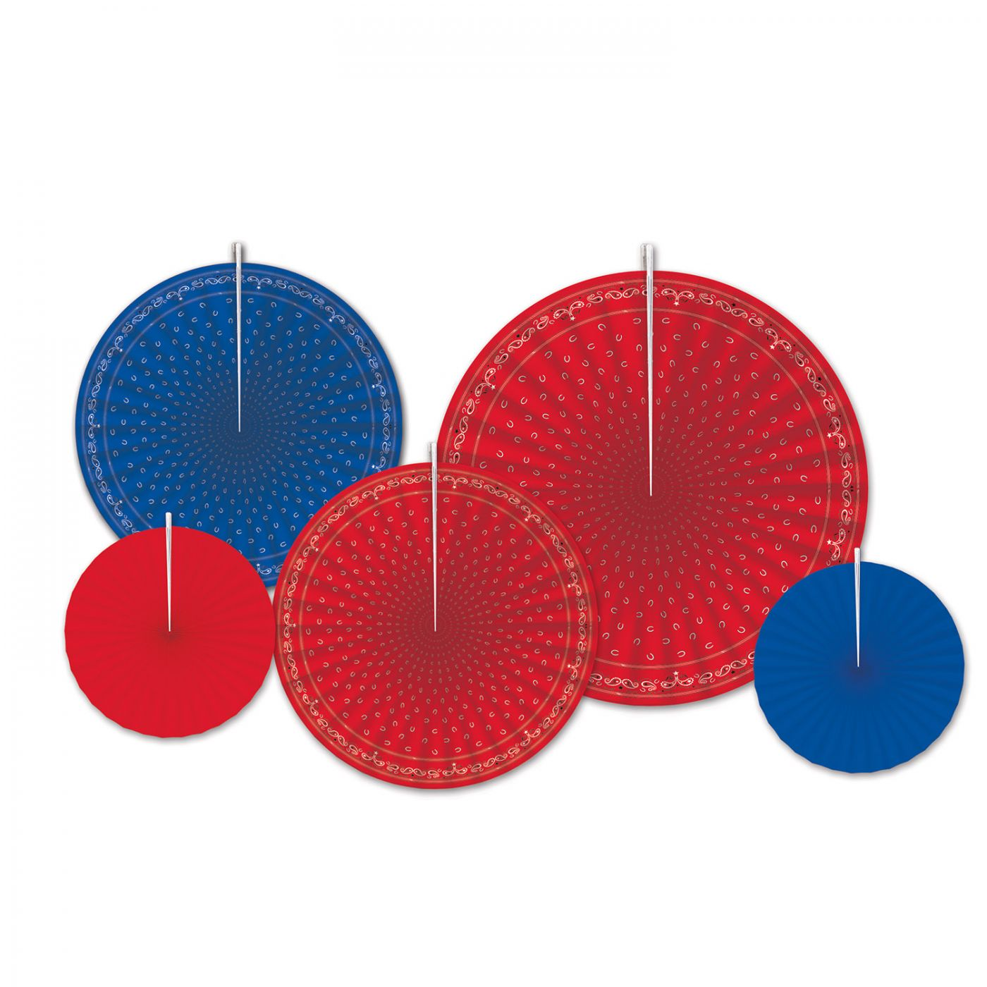 Image of Bandana Accordion Paper Fans