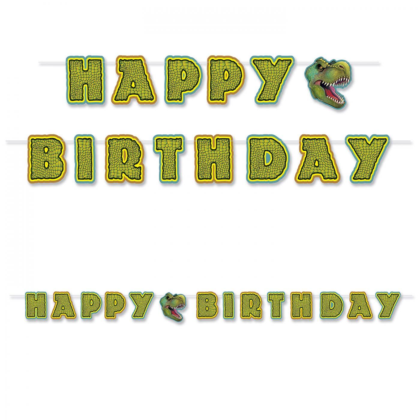 Birthday Dinosaur Streamer image