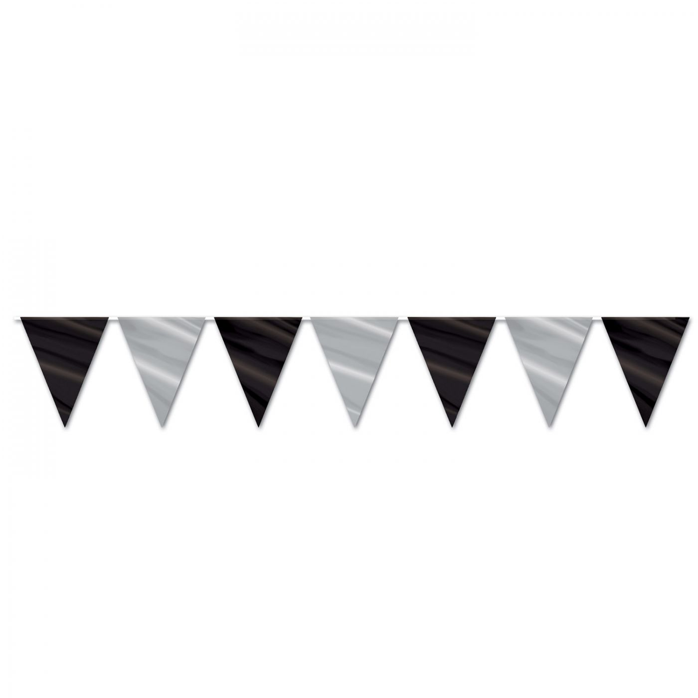 Image of Black & Silver Pennant Banner