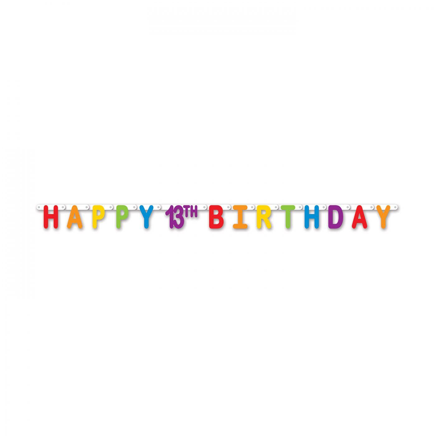 Happy 13th Birthday Streamer image