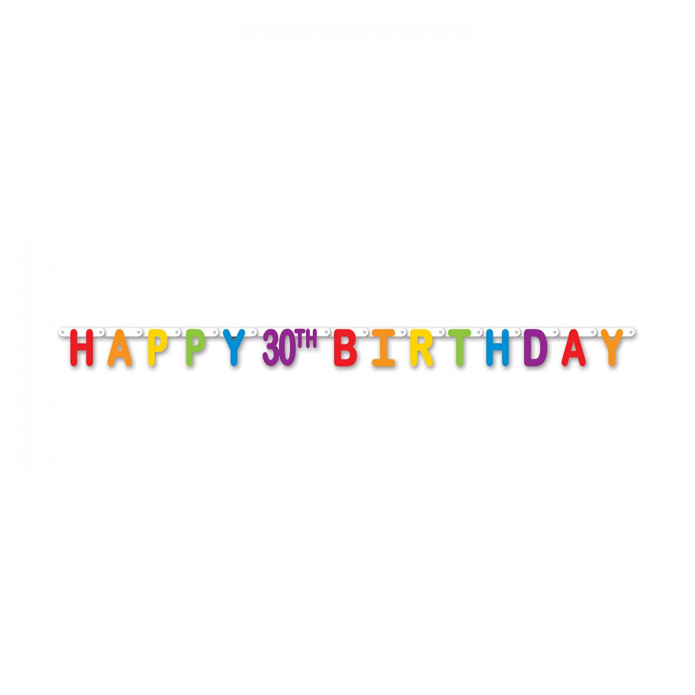 Happy 30th Birthday Streamer image