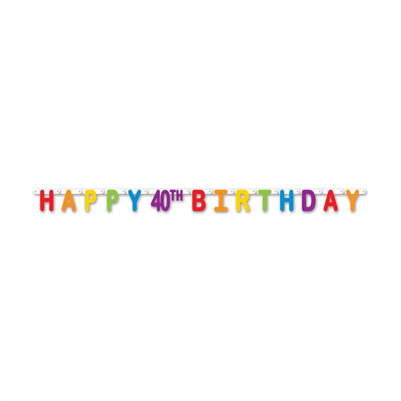 Happy 40th Birthday Streamer image