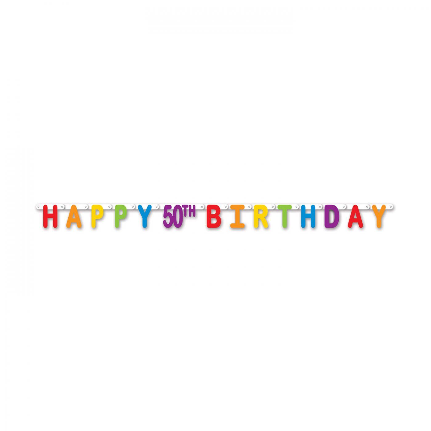 Happy 50th Birthday Streamer image