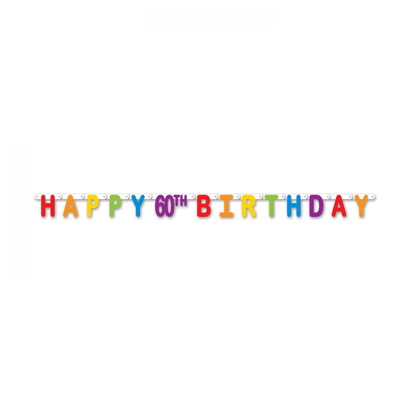 Happy 60th Birthday Streamer image