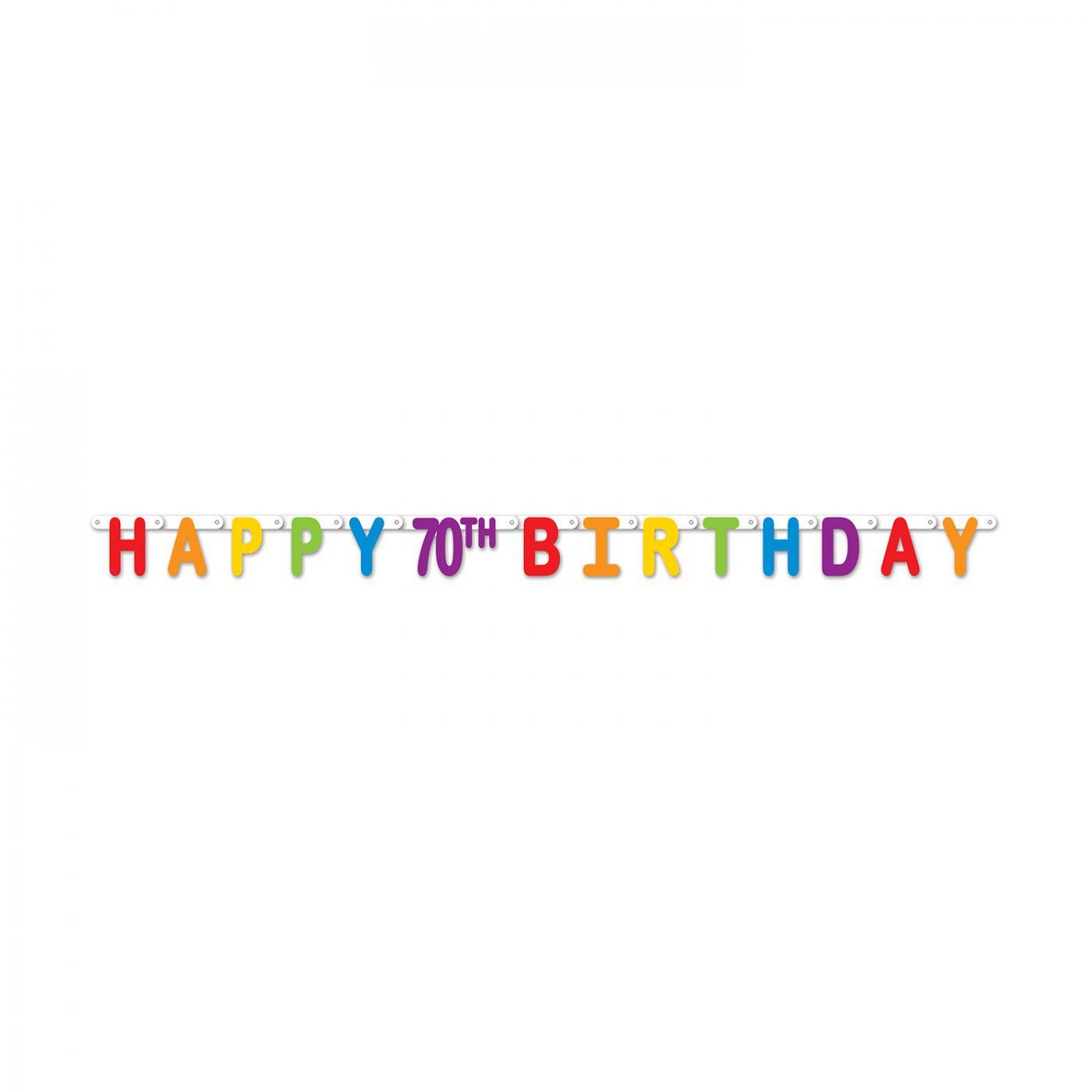 Happy 70th Birthday Streamer image