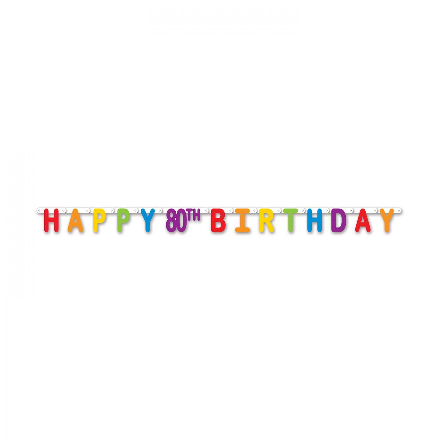 Happy 80th Birthday Streamer image