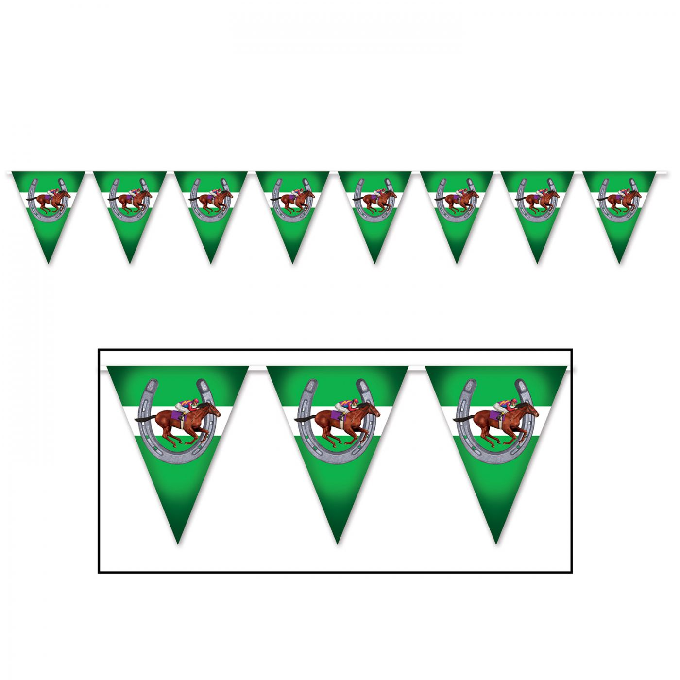 Image of Horse Racing Pennant Banner