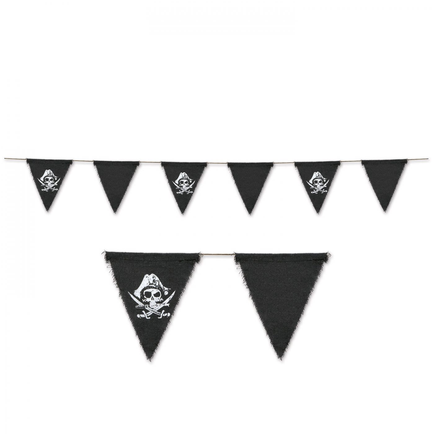 Image of Pirate Fabric Pennant Banner